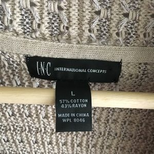 INC International Concepts Sweaters - International concept sweater open front cardigan